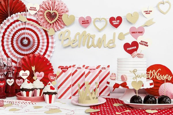 dekoracje walentynkowe, toppery do muffinek, dekoracje do muffinek, dekoracje cupcake,