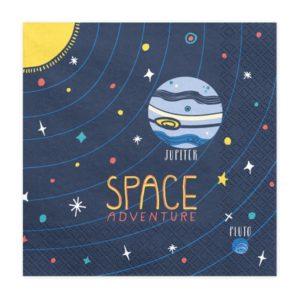 serwetki urodzinowe kosmos, dekoracje urodzinowe kosmiczne