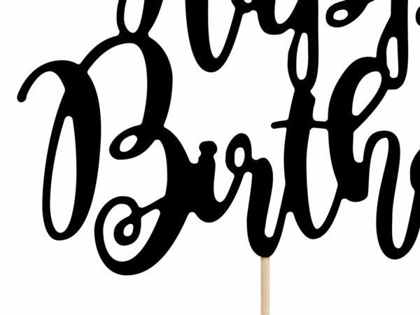 topper na tort urodzinowy czarny