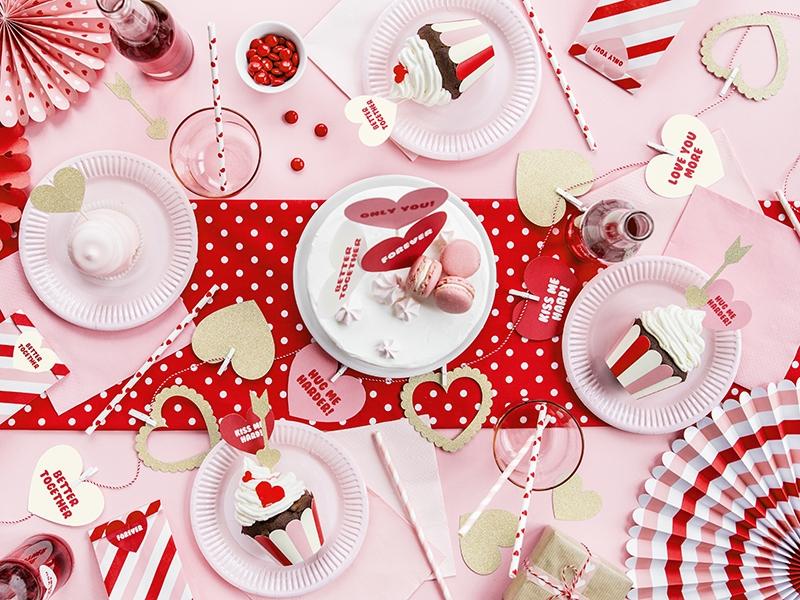 toppery na tort, toppery na walnetynki, toppery do muffinek, dekoracje do muffinek, dekoracje cupcake, dekoracje walentynkowe, valentines day cupcake decoration, toppers