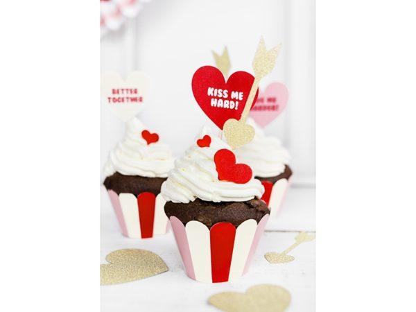 valentines day cupcake decoration, toppers, toppery na tort, toppery na walnetynki, toppery do muffinek, dekoracje do muffinek, dekoracje cupcake, dekoracje walentynkowe