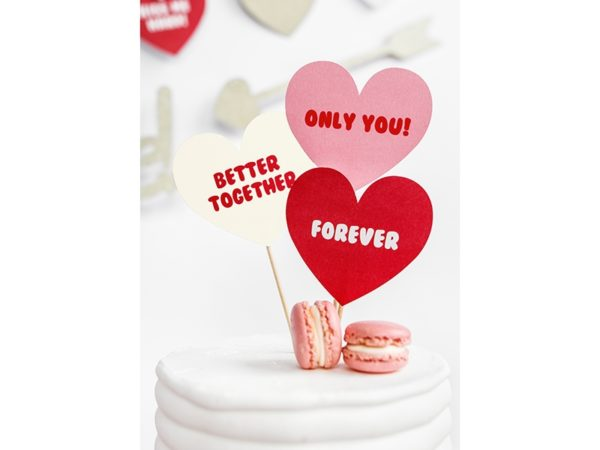 valentines day toppers, toppery na tort, toppery na walnetynki, toppery do muffinek, dekoracje do muffinek, dekoracje cupcake, dekoracje walentynkowe