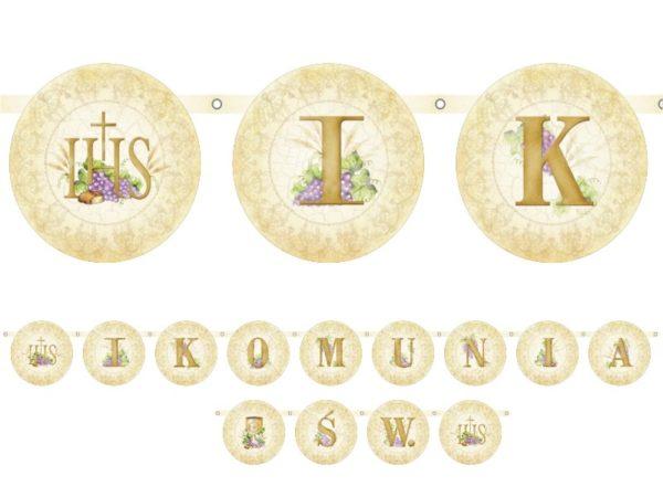 baner na I Komunię Św., baner na Komunię, baner komunijny, dekoracje na I Komunię Św., dekoracje komunijne, dekoracje pierwszokomunijne