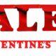 baner na walentynki, baner valentine's day, baner na święto zakochanych, baner na wystawę sklepową
