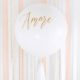 biały balon gigant ze złotym napisem amour, balon 1m, ślubny balon gigant, wielki balon na wesele, dekoracje weselne