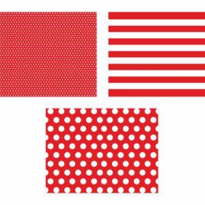 czerwone podkładki papierowe, podkładki papierowe na stół, dekoracyjne podkładki papierowe na walentynki