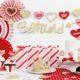 dekoracje walentynkowe, toppery do muffinek, dekoracje do muffinek, dekoracje cupcake, (2)