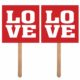 kartki na piku walentynki, kartki na piku Love na święto zakochanych, kartki na piku na wystawę sklepową