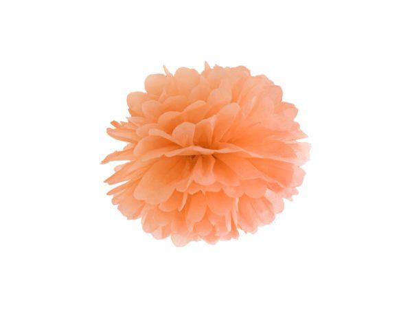 pomarańczowy pompon papierowy 25 cm, dekoracje candy-bar, dekoracje ślubne, dekoracje na wystawy sklepowe