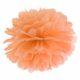 pomarańczowy pompon papierowy 35 cm, dekoracje candy-bar, dekoracje ślubne, dekoracje na wystawy sklepowe