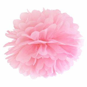 pompon papierowy 35 cm pudrowy róż, dekoracje candy-bar, dekoracje ślubne, dekoracje na wystawy sklepowe