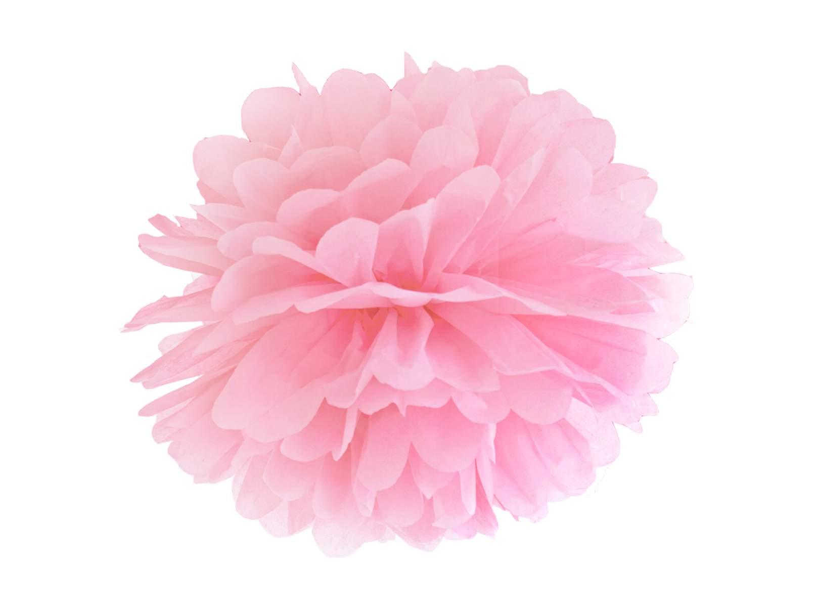Pompon Z Bibuły Pudrowy Róż 35 Cm