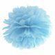 pudrowo błękitny pompon papierowy 35 cm, dekoracje candy-bar, dekoracje ślubne, dekoracje na wystawy sklepowe