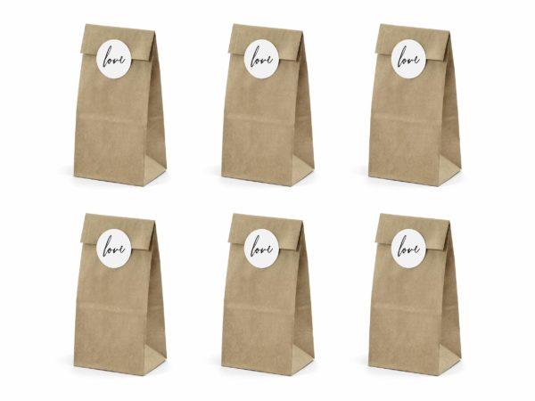 rustykalne torebki na słodycze, torebki do candy-bar z papieru kraft, torebki na prezenty,