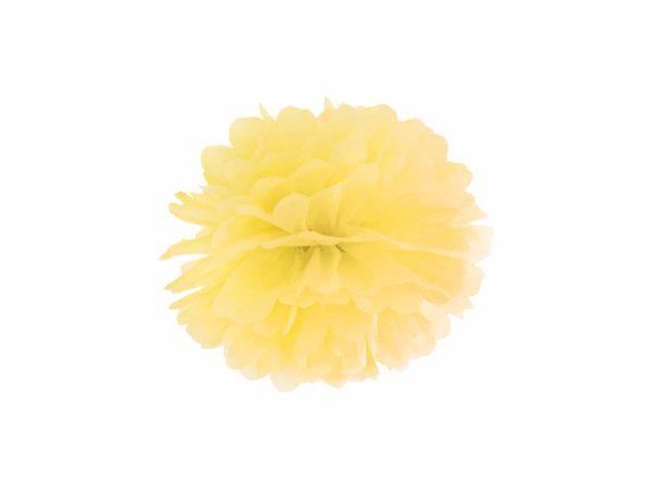 słoneczny żółty pompon papierowy 25 cm, dekoracje candy-bar, dekoracje ślubne, dekoracje na wystawy sklepowe