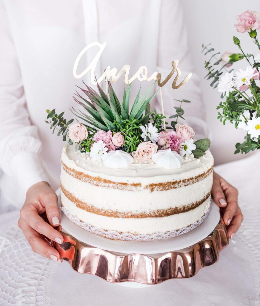 topper na tort amour, złoty, dekoracje candy bar, dekoracje na torty i ciasta