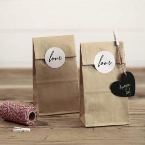 torebki do candy-bar z papieru kraft, torebki na prezenty, rustykalne torebki na słodycze,