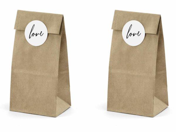 torebki na prezenty, rustykalne torebki na słodycze, torebki do candy-bar z papieru kraft,