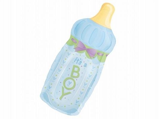 balon foliowy butelka, balon foliowy na roczek dla chłopca, balon na chrzest, balon na baby shower