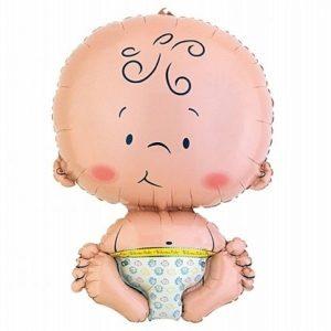 balon foliowy dzidziuś, balon foliowy na roczek, balon na chrzest, balon na baby shower
