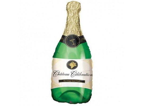 balon foliowy szampan, balon butelka z szampanem, dekoracje balonowe, dekoracje na imprezę, balony na imprezę