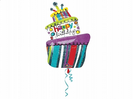 balon tort urodzinowy, balony urodzinowe, balony na imprezę urodzinową, dekoracje na imprezę urodzinową