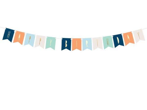 baner happy birthday kolorowy, baner urodzinowy ,baner na urodziny dla chłopca, dekoracje urodzinowe, dekoracje na impreze
