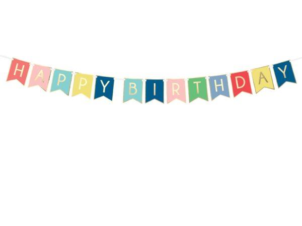 baner happy birthday kolorowy, baner urodzinowy , kolorowy baner na urodziny, dekoracje urodzinowe, dekoracje na impreze