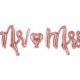 dekoracje golden rose na imprezę, balon napis mr&mrs różowe złoto, balon napis foliowy mr&mrs, balony ślubne napisy złoty róż, balony na imprezy,