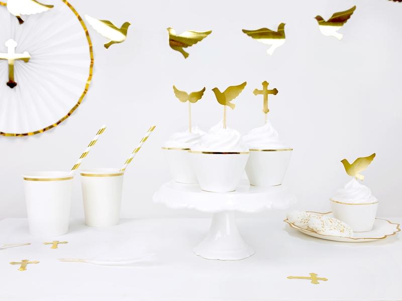 dekoracje komunijne, toppery na tort, dekoracje na I Komunię Św., tort komunijny