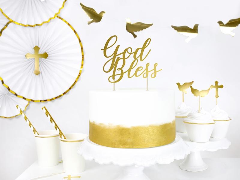 dekoracje na I Komunię Św., toppery na tort,dekoracje komunijne, tort komunijny