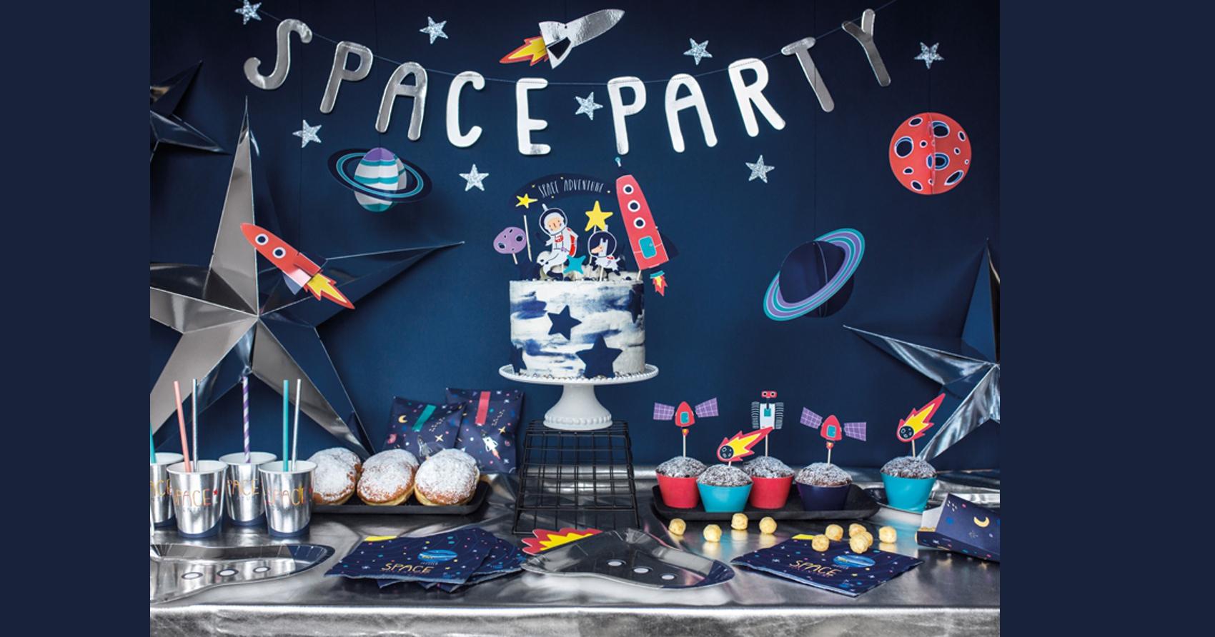 dekoracje na imprezę urodzinową, dekoracje urodzinowe dla dzieci, dekoracje kosmos4,
