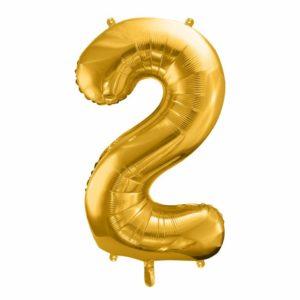 dekoracje złote na imprezę, balon cyfra foliowa 2, złote balony urodzinowe cyfry, , złoty balon cyfra 86 cm, balony na imprezy,
