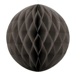 kula bibułowa ciemny beż 40 cm, dekoracje papierowe na imprezę,