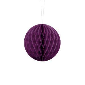 kula bibułowa winogronowa 10 cm, dekoracje papierowe na imprezę,