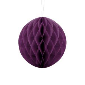 kula bibułowa winogronowa 20 cm, dekoracje papierowe na imprezę,