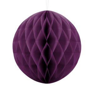 kula bibułowa winogronowa 30 cm, dekoracje papierowe na imprezę,