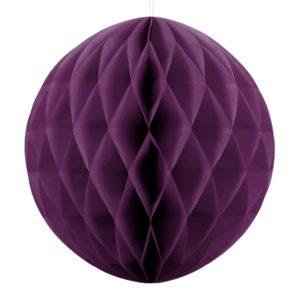 kula bibułowa winogronowa 40 cm, dekoracje papierowe na imprezę,