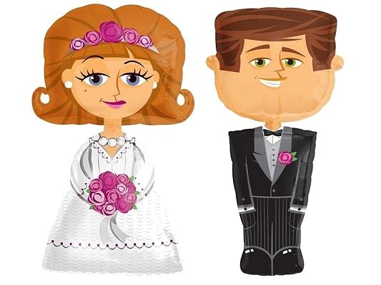 balon Para Młoda, balony Młoda Para, balony na ślub, balony Para Młoda, balony nowożeńcy, balony metrowe, duże balony Młoda Para