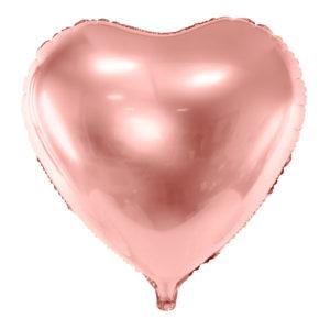 balon na hel serce złoty róż, balon foliowy golden rose,