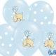 balony błękitne ze słonikiem, balony z helem dla malucha, balony na Roczek, Chrzciny, urodzinki