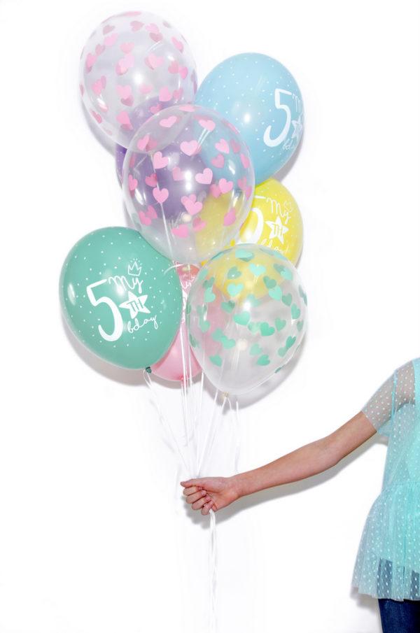 transparentne balony crystal, balony przezroczyste w serduszka, -001