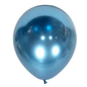 balon niebieski chromowany na 18stki, wesela, karnawał, dekoracje balonowe