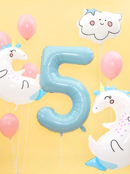 balon jednorożec, balony na urodziny, balony z helem, balony urodzinowe dla dziewczynki, balony na imprezę