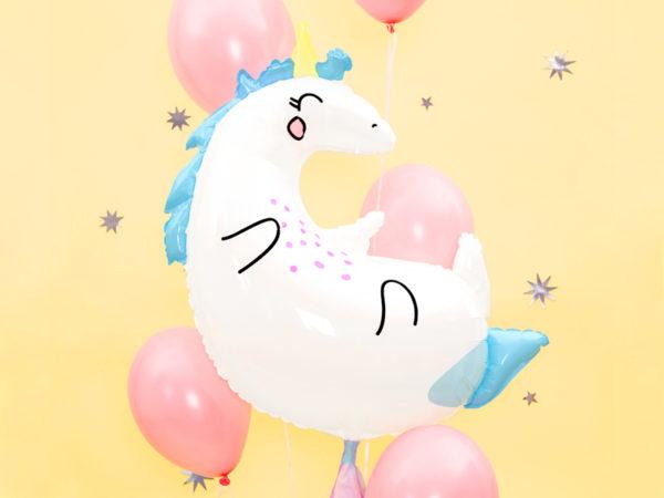 balon jednorożec, balony na urodziny, balony z helem, balony urodzinowe dla dziewczynki, dekoracje balonowe dla dziewczynki