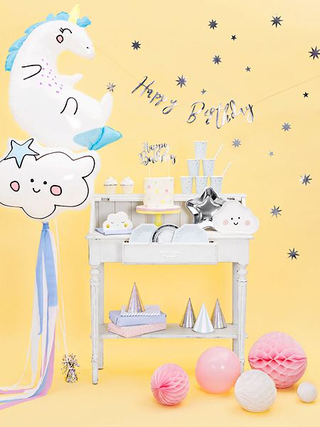 balon jednorożec dla dziewczynki, balony na urodziny, balony z helem, balony urodzinowe dla dziewczynki
