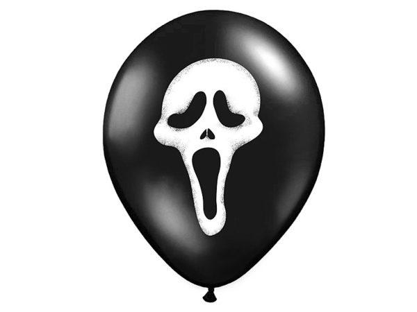balony krzyk, balony na halloween