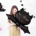 balony na halloween, balon foliowy nietoperz, dekoracje halloween,