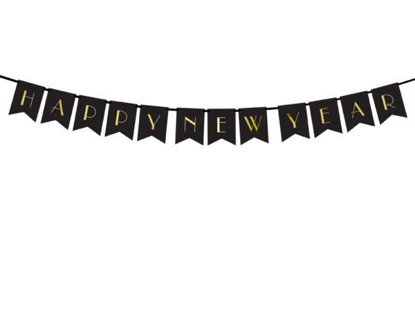 baner na Nowy Rok, dekoracje noworoczne, baner happy new year