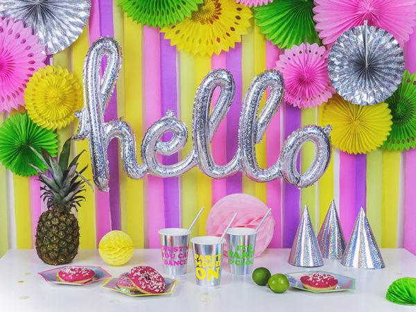 dekoracje na 18stkę, 18th decoration, paper rosettes green apple, rozety papierowe zielone jabłuszko, papierowe dekoracje na imprezy, akcesoria na przyjęcia